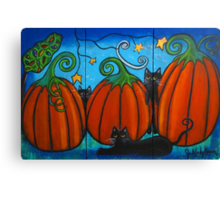 A Frolicking Fall Canvas Print