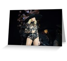BOW DOWN  FOR QUEEN BEY Greeting Card