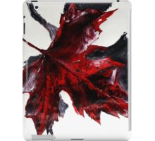 Canada Maple Leaf Red Acrylic On Paper Contemporary Painting  iPad Case/Skin