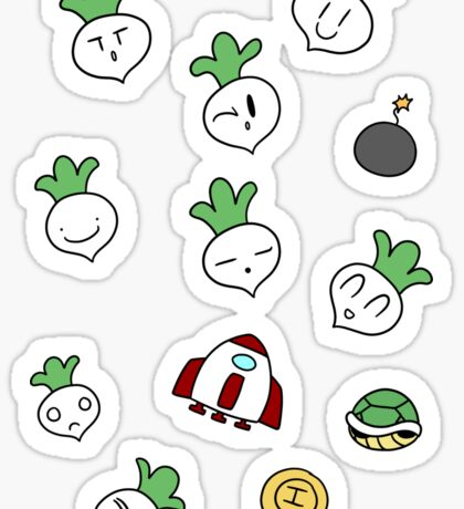 SMB2 Turnips and Items Sticker