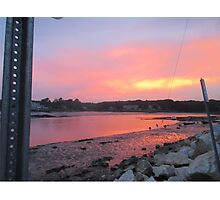 Sunset sky in Kennebunkport ME Photographic Print
