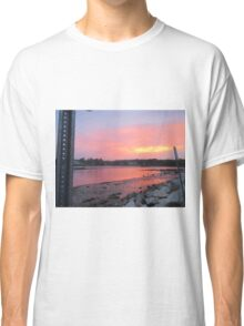 Sunset sky in Kennebunkport ME Classic T-Shirt