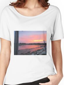 Sunset sky in Kennebunkport ME Women's Relaxed Fit T-Shirt