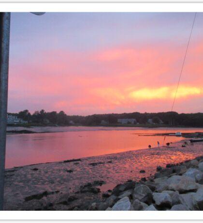 Sunset sky in Kennebunkport ME Sticker