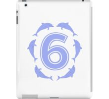 Baby learns to count with blue dolphin 6 iPad Case/Skin