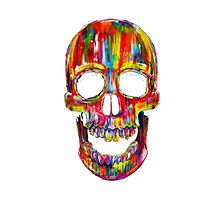 Rainbow Skull by LivsDoodles