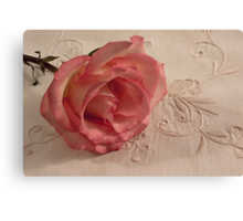 The Beauty Of Just One Rose  Canvas Print