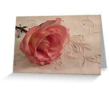 The Beauty Of Just One Rose  Greeting Card
