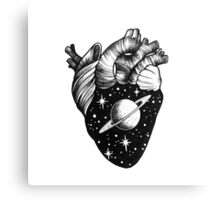 Heart full of Saturn Canvas Print