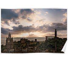 Calton Hill From Edinburgh Castle Poster