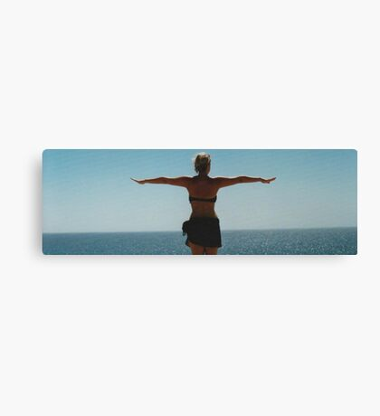 Girl by the Ocean Canvas Print
