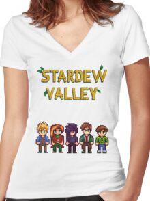 Stardew Valley - Bachelors  Women's Fitted V-Neck T-Shirt