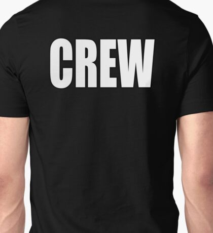 CREW, White type Unisex T-Shirt