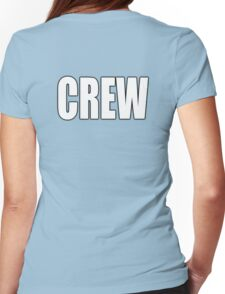 CREW, White type Womens Fitted T-Shirt