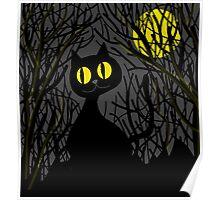 Black cat - Halloween Poster