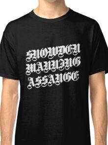 Snowden Manning Assange : heros  Classic T-Shirt