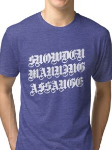 Snowden Manning Assange : heros  Tri-blend T-Shirt