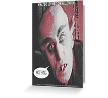 """'Count Orlock, the Vampire #3', FROM THE FILM """" Nosferatu vs. Father Pipecock & Sister Funk (2014)"""" Greeting Card"""