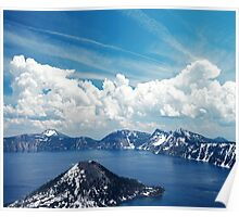Crater Lake and Sky Poster