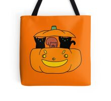 Pumpkin Squirrel and Black Cats Tote Bag