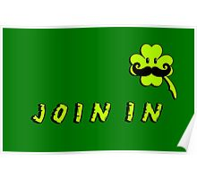 St Patrick: Irish Mustache VRS2 Poster