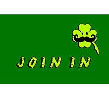 St Patrick: Irish Mustache Photographic Print