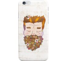 Flower beard iPhone Case/Skin