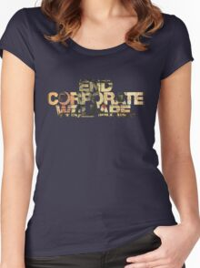 END CORPORATE WELFARE. Women's Fitted Scoop T-Shirt