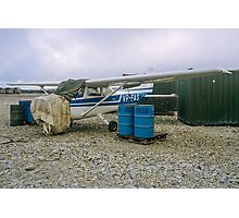 Damaged Cessna Skyhawk VP-FAS at RAF Stanley Photographic Print