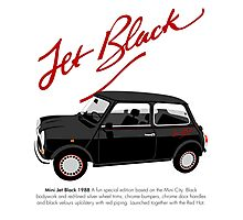 Classic 1988 Mini Jet Black Photographic Print