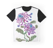Chrysanthemum, painted in gouache. Graphic T-Shirt