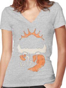 Kingler (old orange) Women's Fitted V-Neck T-Shirt