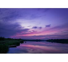 Twilight Time on Lake Photographic Print
