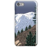 Winter Hike Up Twin Peaks iPhone Case/Skin