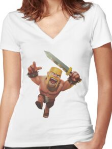 Barba Women's Fitted V-Neck T-Shirt