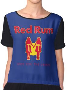 REDRUM gives you the creeps! (red) Chiffon Top