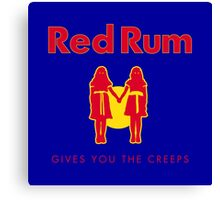 REDRUM gives you the creeps! (red) Canvas Print