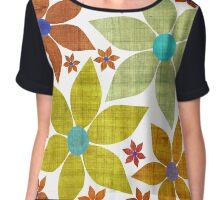Dried Flower Fabric Print Chiffon Top