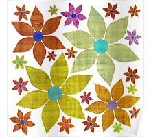Dried Flower Fabric Print Poster