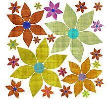 Dried Flower Fabric Print Photographic Print