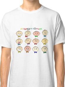 Funny cartoon children's emotions Classic T-Shirt
