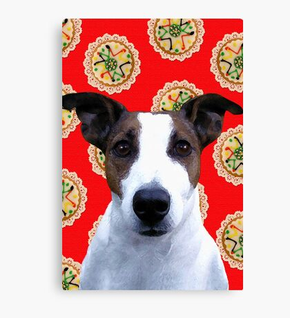 Doggy Biscuits Canvas Print