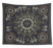 Navy and Gold Wall Tapestry