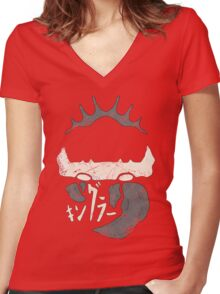 Kingler (old grey) Women's Fitted V-Neck T-Shirt