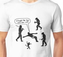 Jesus clashes with the law Unisex T-Shirt