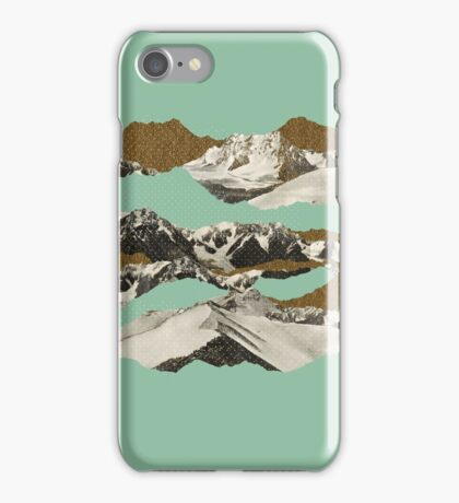 Golden Zugspitze // Turquoise iPhone Case/Skin