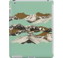 Golden Zugspitze // Turquoise iPad Case/Skin