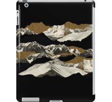 Golden Zugspitze // Black iPad Case/Skin