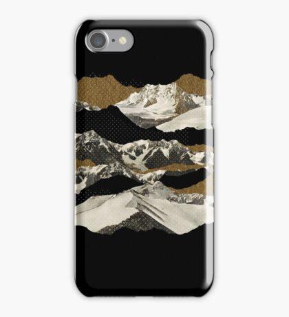 Golden Zugspitze // Black iPhone Case/Skin