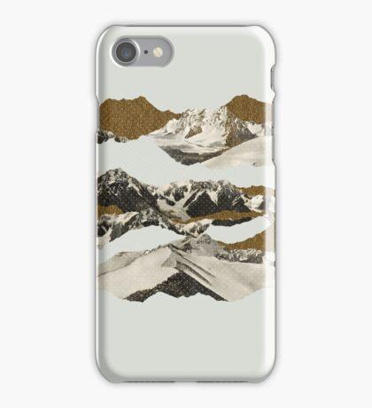 Golden Zugspitze // White iPhone Case/Skin